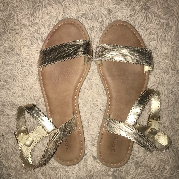 41557b7d2d BAMBOO Shoes | Strappy Gold Sandals | Poshmark